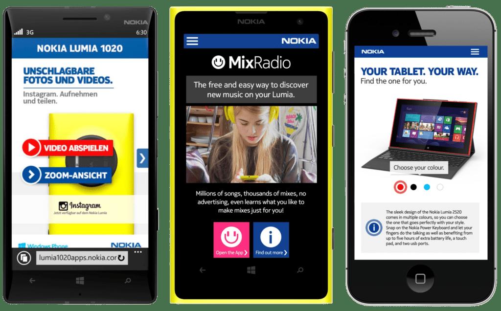 Nokia mobile sites
